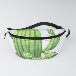 Green Cacti with Pink Flowers Fanny Pack