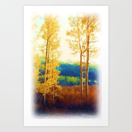 Faded Aspens Art Print