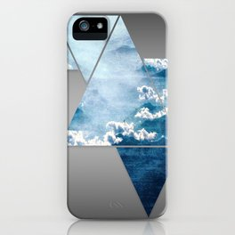 Fragmented Clouds iPhone Case