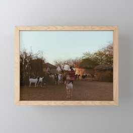 The Maasai Goat Framed Mini Art Print