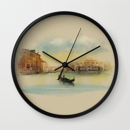 Early morning in Venice Wall Clock
