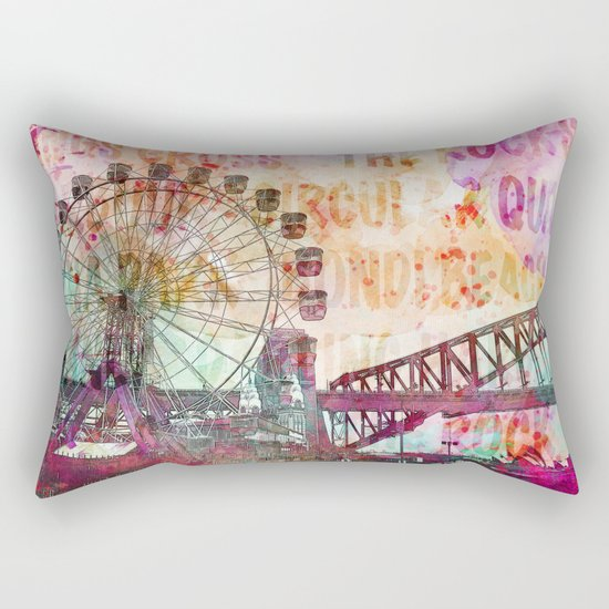 Sydney Luna Park Ferris Wheel Rectangular Pillow
