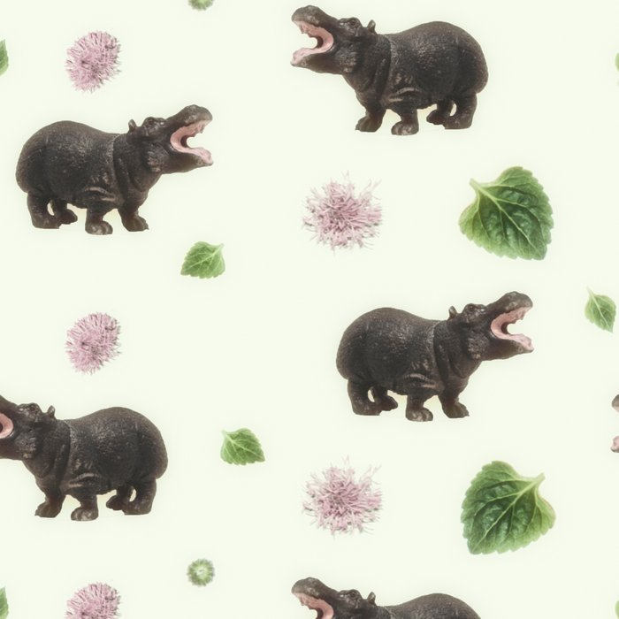 Hippos and Flowers Leggings