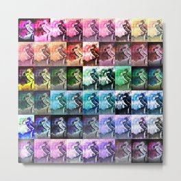 The Dancer Colorful Rainbow Collage Metal Print