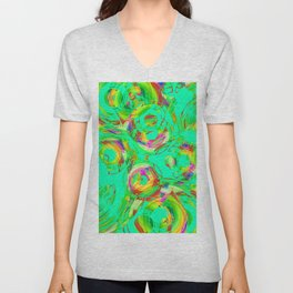 Abstract HJ Y Unisex V-Neck