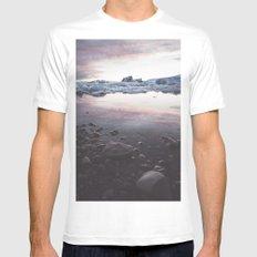 Jokulsarlon Lagoon - Sunset MEDIUM White Mens Fitted Tee