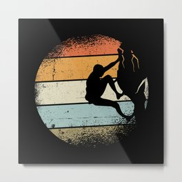 Mountaineering Motif Metal Print