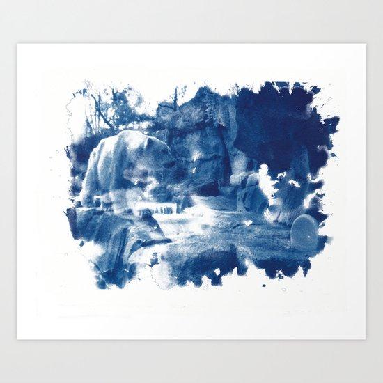 Cyanotype Polar Bear Art Print