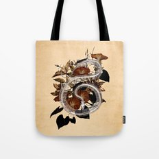 Snake Skeleton and Vine Tote Bag