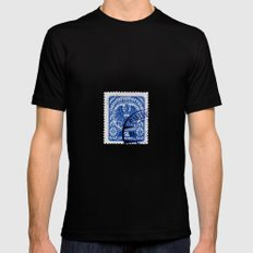 Stamp10 Black Mens Fitted Tee SMALL