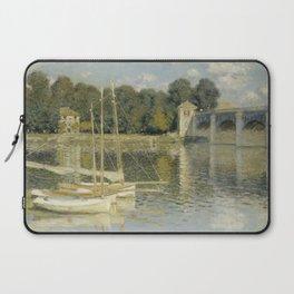 The Argenteuil Bridge by Claude Monet Laptop Sleeve