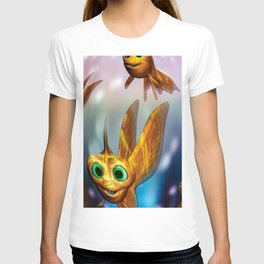 Three little fishies and a mama fishie too T-shirt