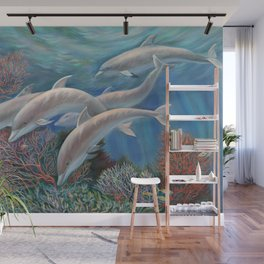 Happy Family - Dolphins Are Awesome Wall Mural