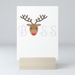 boss elf, santa, elf, elf gifts, santa christmas, xmas, santa gifts Mini Art Print