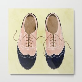 girl shoes stay at home Metal Print
