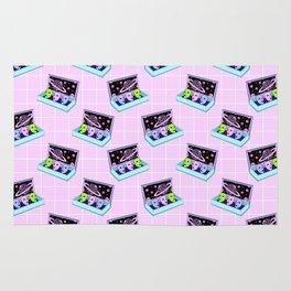Alien box / Pink Grid Rug
