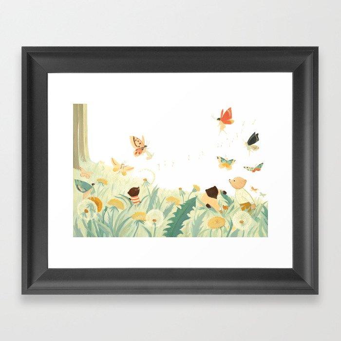 The Butterfly Field by Emily Winfield Martin Gerahmter Kunstdruck
