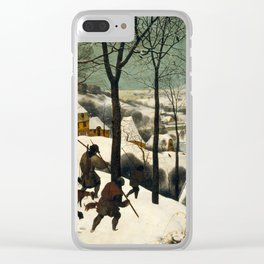 The Hunters in the Snow - Pieter Bruegel the Elder Clear iPhone Case