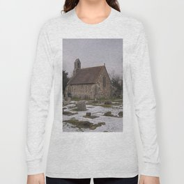 Seasalter Old Church In Winter Long Sleeve T-shirt