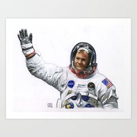 neil young Art Prints featuring Neil by Ed Hengeveld Space Art