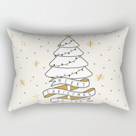 Merry Christmas To You Rectangular Pillow