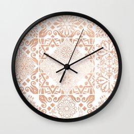 MOROCCAN TILES ROSEGOLD Wall Clock