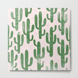 DUSTY CACTUS Metal Print