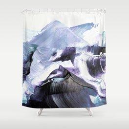 Glacier Mountains Shower Curtain