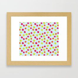 Watercolour Lolly Pops, Watercolor Popsicles Framed Art Print