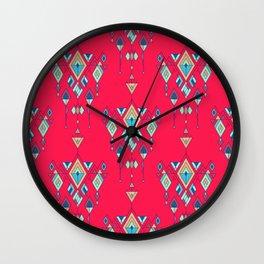 Vintage ethnic tribal aztec ornament Wall Clock