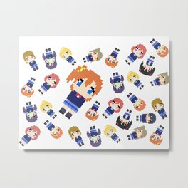 Pixel Honoka Metal Print