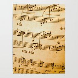 Music Sheet Poster