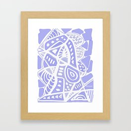Violet Abstract Framed Art Print
