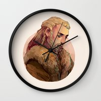 fili Wall Clocks featuring Fili by kitsu-neko