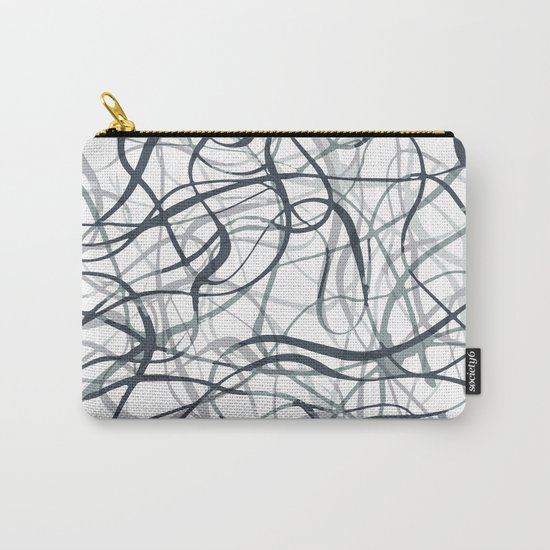 curvy gray & black Carry-All Pouch