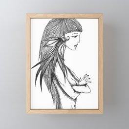elf woman Framed Mini Art Print