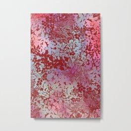 blanket of leaves in cinnamon Metal Print
