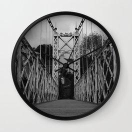Bridge Crossing Wall Clock