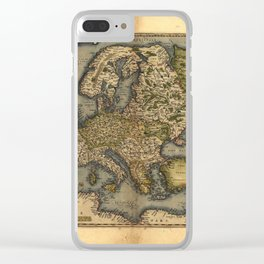 Antique Map of Britain, by Abraham Ortelius, circa 1570 Clear iPhone Case
