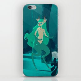 Faun in the enchanted forest iPhone Skin