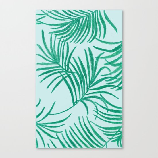 Green Leaves Of Home Canvas Print