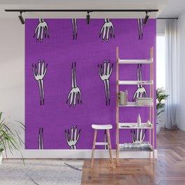 Skeletal Hand Purple #Halloween Wall Mural