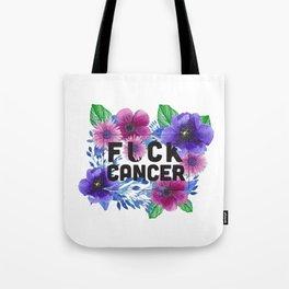 Fuck Cancer - Florals Tote Bag