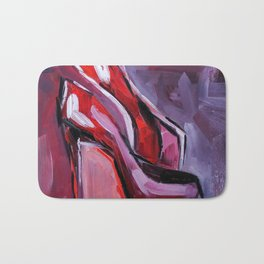 red shoes heels Bath Mat