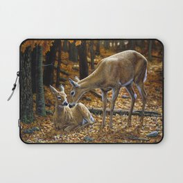 Whitetail Deer and Fawn in Autumn Laptop Sleeve