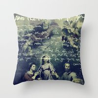 tom waits Throw Pillows featuring And The Rain Waits For You by Tom Melsen