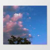 airplanes Canvas Prints featuring There, Airplanes by Alisha Greenlaw