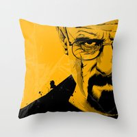 breaking bad Throw Pillows featuring Breaking Bad by The Art Warriors
