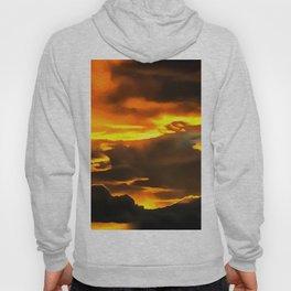 cloudy burning sky reacstd Hoody