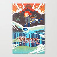 nausicaa Canvas Prints featuring princess of the wind valley by xfreischutz